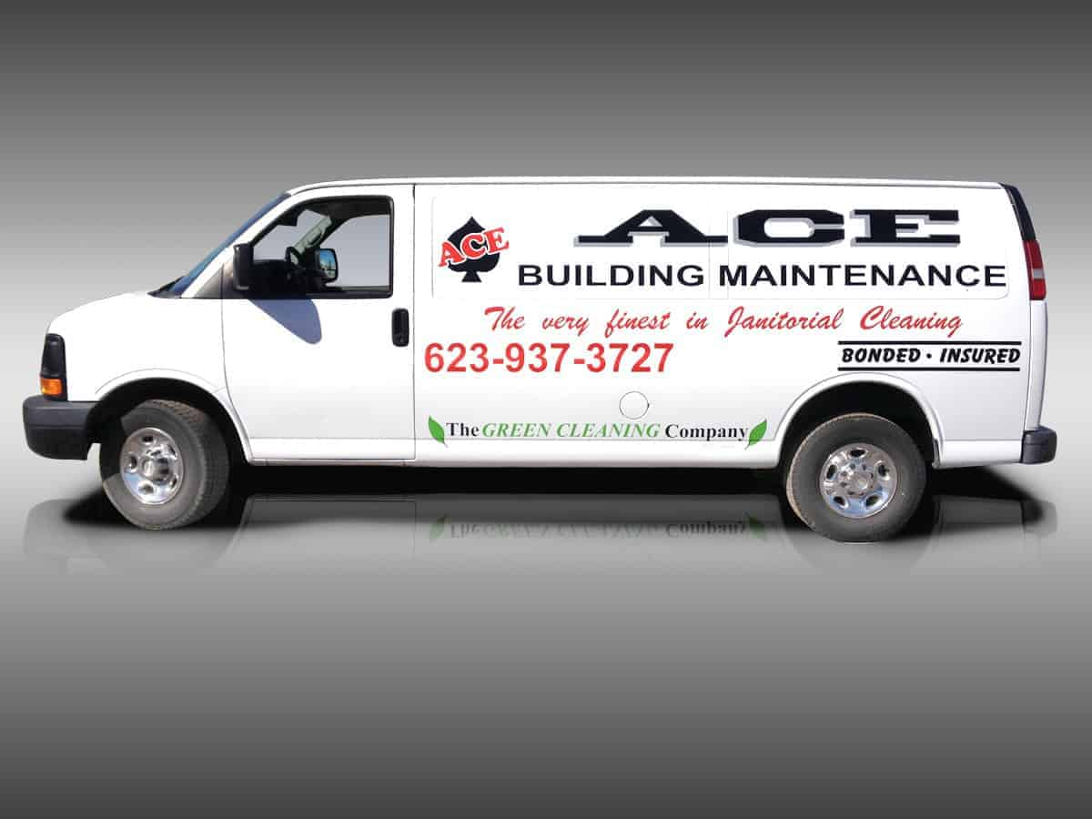 vinyl decals for mobile advertising ace van lettering