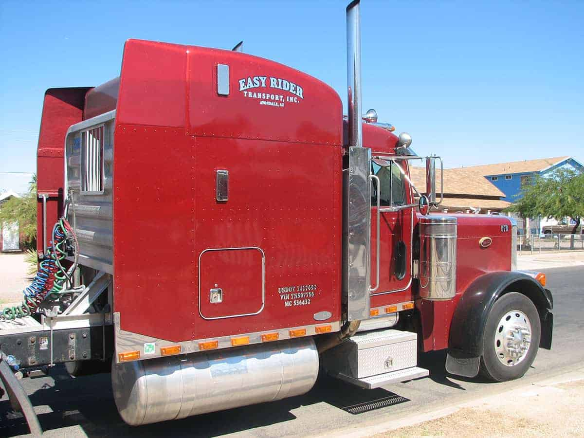 Semi truck lettering decals and graphics phoenix az for Big truck lettering
