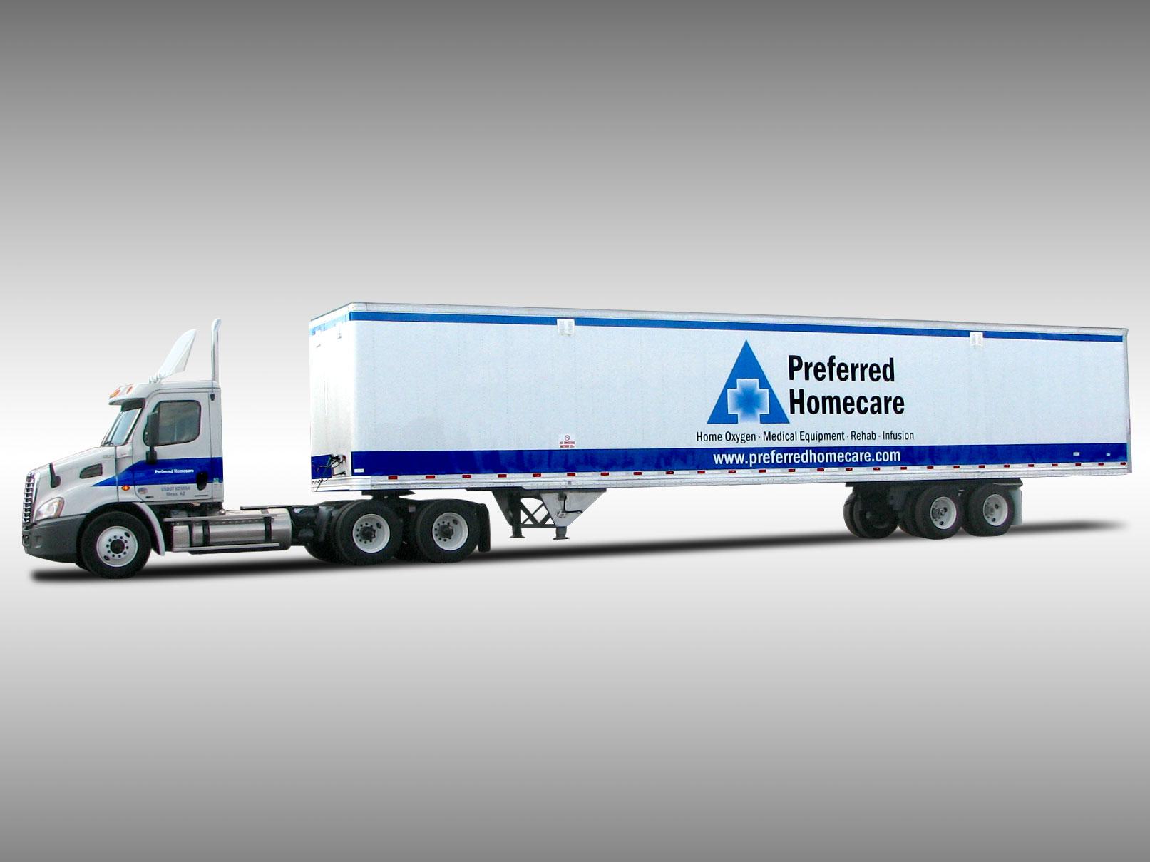 Semi Truck Lettering Decals And Graphics Phoenix Az