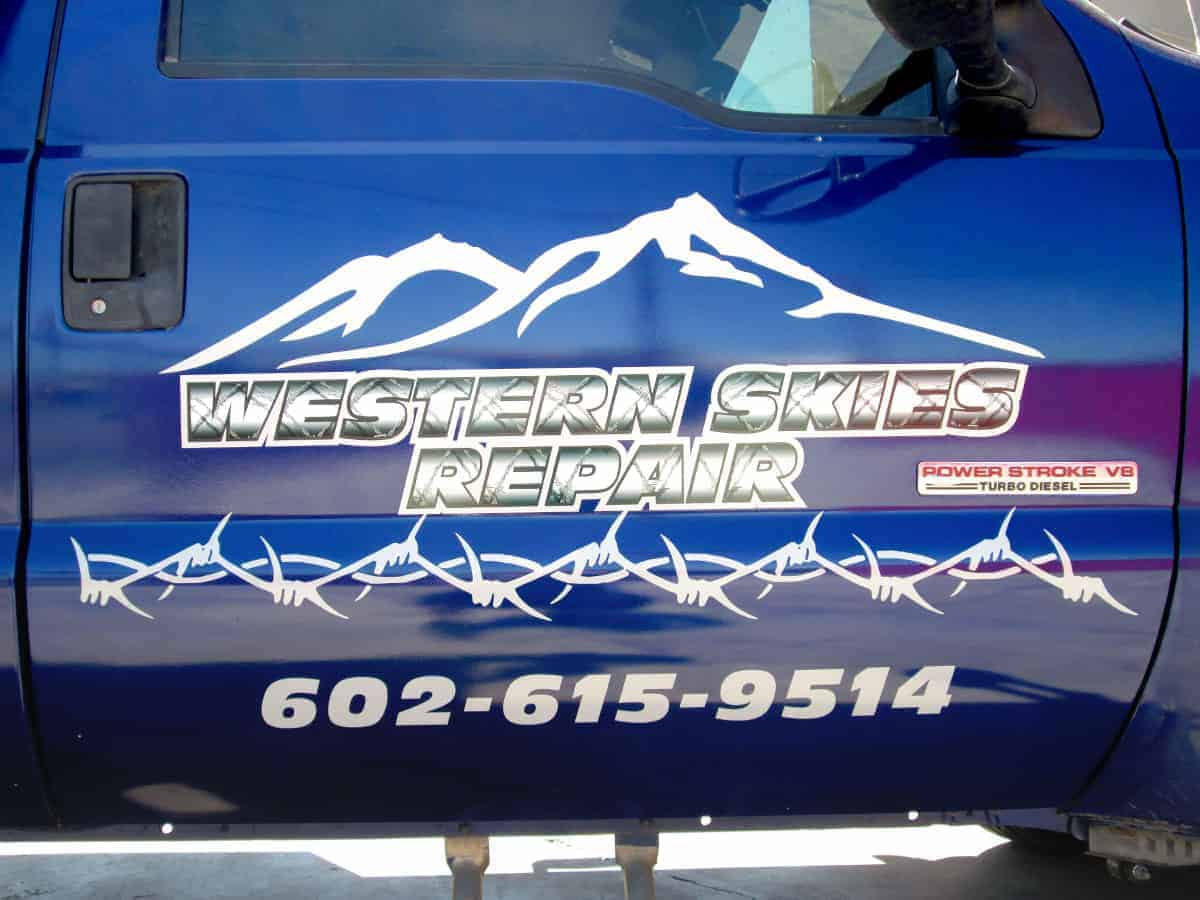 vinyl lettering for semi truck door